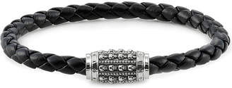 Thomas Sabo Rebel at Heart sterling silver and nappa leather bracelet