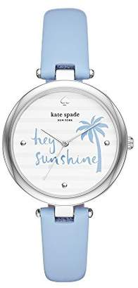 Kate Spade Women's 'Varick' Quartz Stainless Steel and Leather Casual Watch