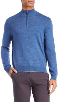 Thomas Dean Quarter-Zip Pullover Sweater