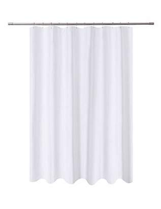 At N Y Home Fabric Shower Curtain Liner White Extra Long 72 X 84 Inch