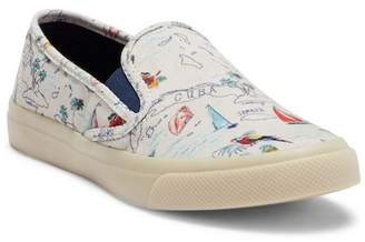 Sperry Seaside Map Printed Slip-On Sneaker