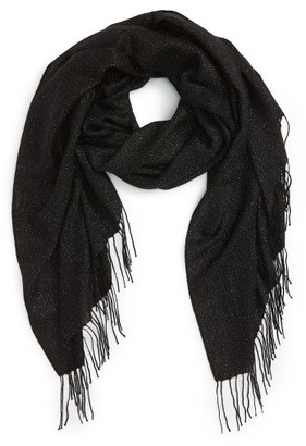 Women's Nordstrom Metallic Wool Blend Scarf $99 thestylecure.com