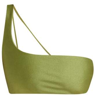 JADE SWIM Apex One Shoulder Bikini Top - Womens - Green