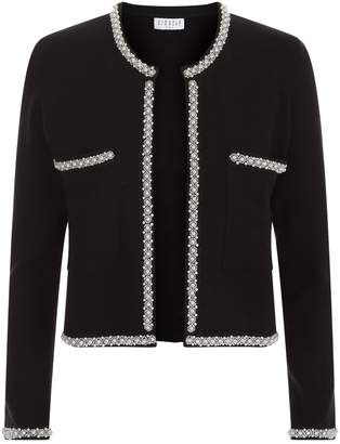 Claudie Pierlot Knitted Embellished Trim Cardigan