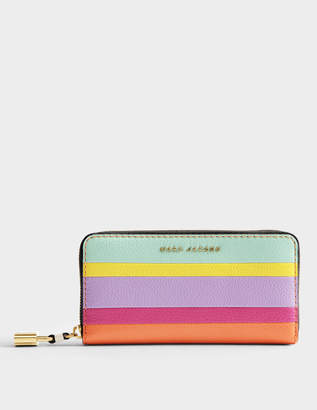 Marc Jacobs The Grind Colorblocked Continental Wallet in Mandarin Cow Leather