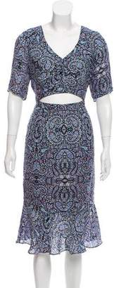 Charlotte Ronson Printed Silk Dress w/ Tags