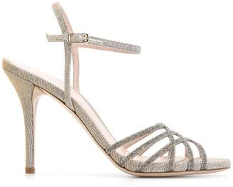 Stuart Weitzman textured strappy sandals