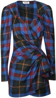ATTICO Tartan Wrap Mini Dress