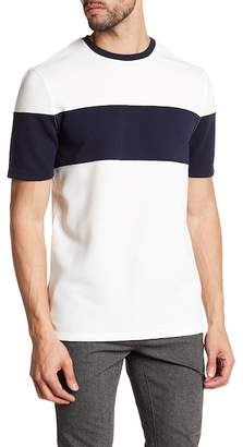 Vince Camuto Colorblock Stripe Textured Tee