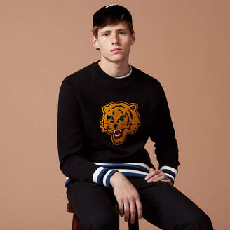 Sandro Tiger patch sweatshirt