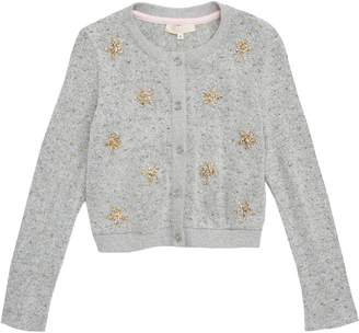 Truly Me Shimmer Star Cardigan