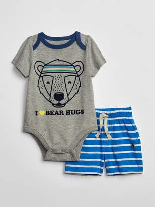 Gap Baby Graphic Bodysuit Outfit Set