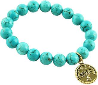 Artsmith BY BARSE Art Smith by BARSE Genuine Blue Howlite Beaded Stretch Bracelet