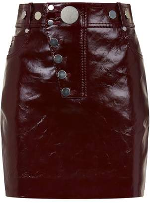 Alexander Wang Patent Leather Snap Mini Skirt