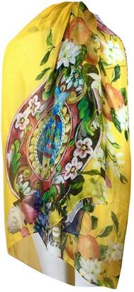 Dolce & Gabbana Yellow Silk Scarves