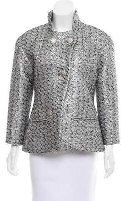 Chanel Double-Breasted Metallic Jacket