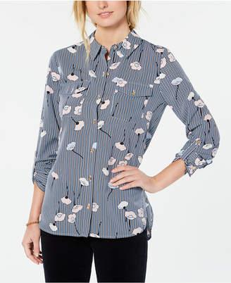 Tommy Hilfiger Poppy-Print Utility Shirt