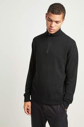 French Connenction Cashmere Half Zip Jumper
