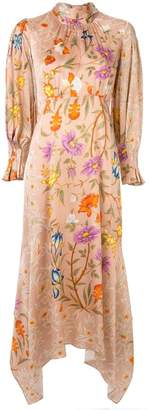 Mother of Pearl floral print symmetric dress