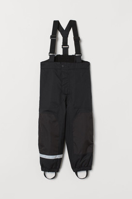 H&M Snow Pants with Suspenders - Black
