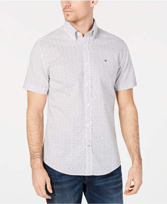 Tommy Hilfiger Men Custom-Fit Triangle Print Shirt