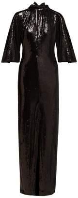 Osman Samantha Sequinned Dress - Womens - Black