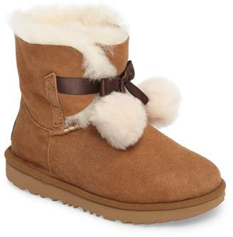 UGG Gita Water-Resistant Genuine Shearling Pom Boot