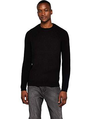 Meraki Men's Rib Crew Neck Sweater