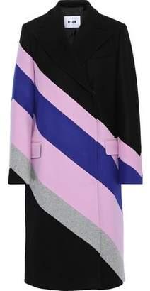 MSGM Color-block Wool-blend Coat
