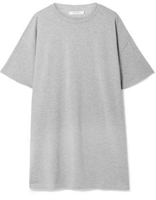 Ninety Percent Olive Oversized Organic Cotton-jersey Mini Dress