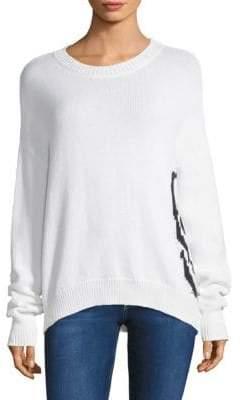 360 Cashmere Dinah Side Skull Sweater
