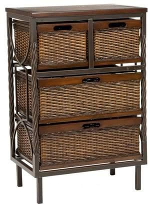 Safavieh Andrew Dark Teak; Wood Color: Dark Teak Drawers / Storage - AMH6511A