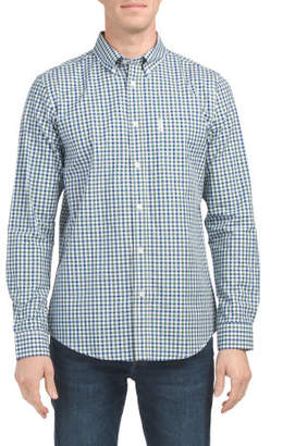 Long Sleeve House Gingham Woven Top