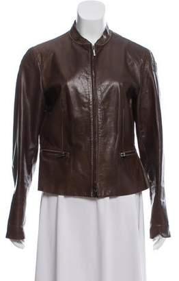 3ddb965d96c2 Armani Collezioni Women's Leather Jackets - ShopStyle