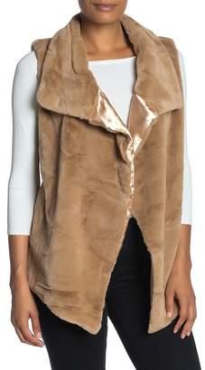 Philosophy di Lorenzo Serafini Draped Collar Faux Fur Vest