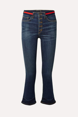 Veronica Beard Carolyn Cropped High-rise Flared Jeans - Blue