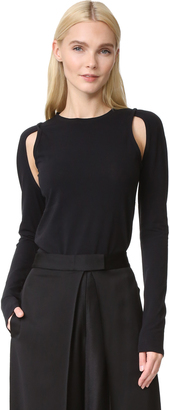 DKNY Knit Top with Cutouts $178 thestylecure.com