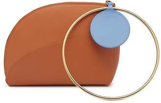 Roksanda 'Eartha' ring handle small leather clutch