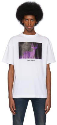Palm Angels White Night Vision Deer T-Shirt