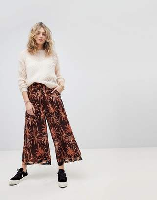 Maison Scotch Extra Wide Printed Pants