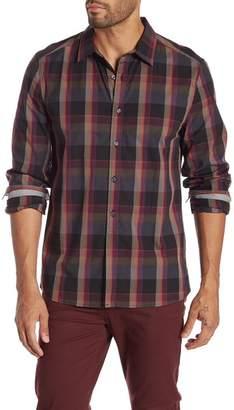 Kenneth Cole New York Long Sleeve Plaid Regular Fit Shirt