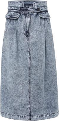 Sea Jocelyn Acid Wash Denim Skirt