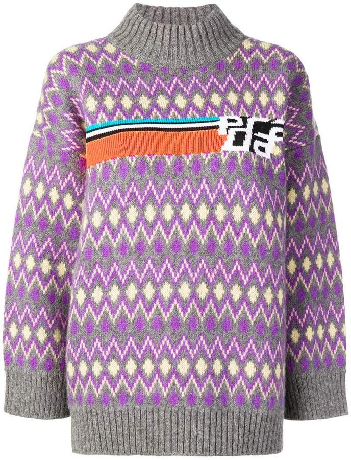 jacquard knitted jumper