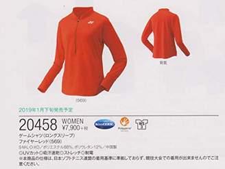 Yonex (ヨネックス) - [YONEX(ヨネックス)]テニスウェア ゲームシャツ(ロングスリーブ) [レディース] 20458 レディース ファイヤーレッド (569) 日本 S (日本サイズS相当)