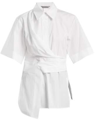 Sportmax Fauno draped cotton-poplin shirt