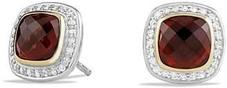 David Yurman Albion Earrings with Garnet and Diamonds with 18K Gold