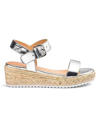 2a3fa25d655a7e Simply Be Indra Espadrille Wedge Extra Wide Fit