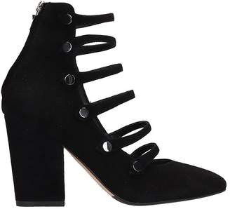 The Seller Black Suede Ankle Boots