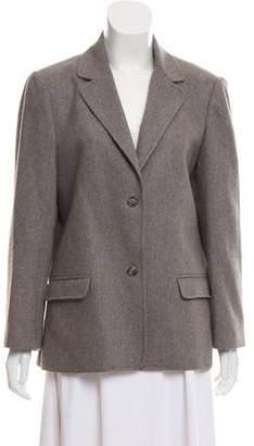 Halston Wool Notch-Lapel Blazer