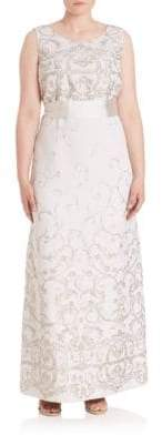 Max Mara Plus Elegante Diacono Sleeveless Gown